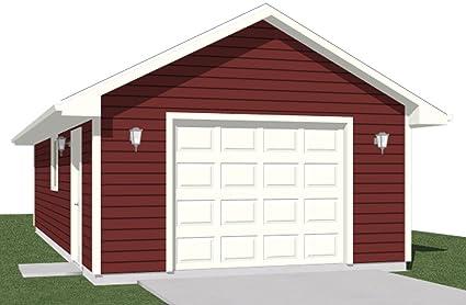 Amazon Com Garage Plans 1 Car Garage Plan 512 1 16 X 32 One