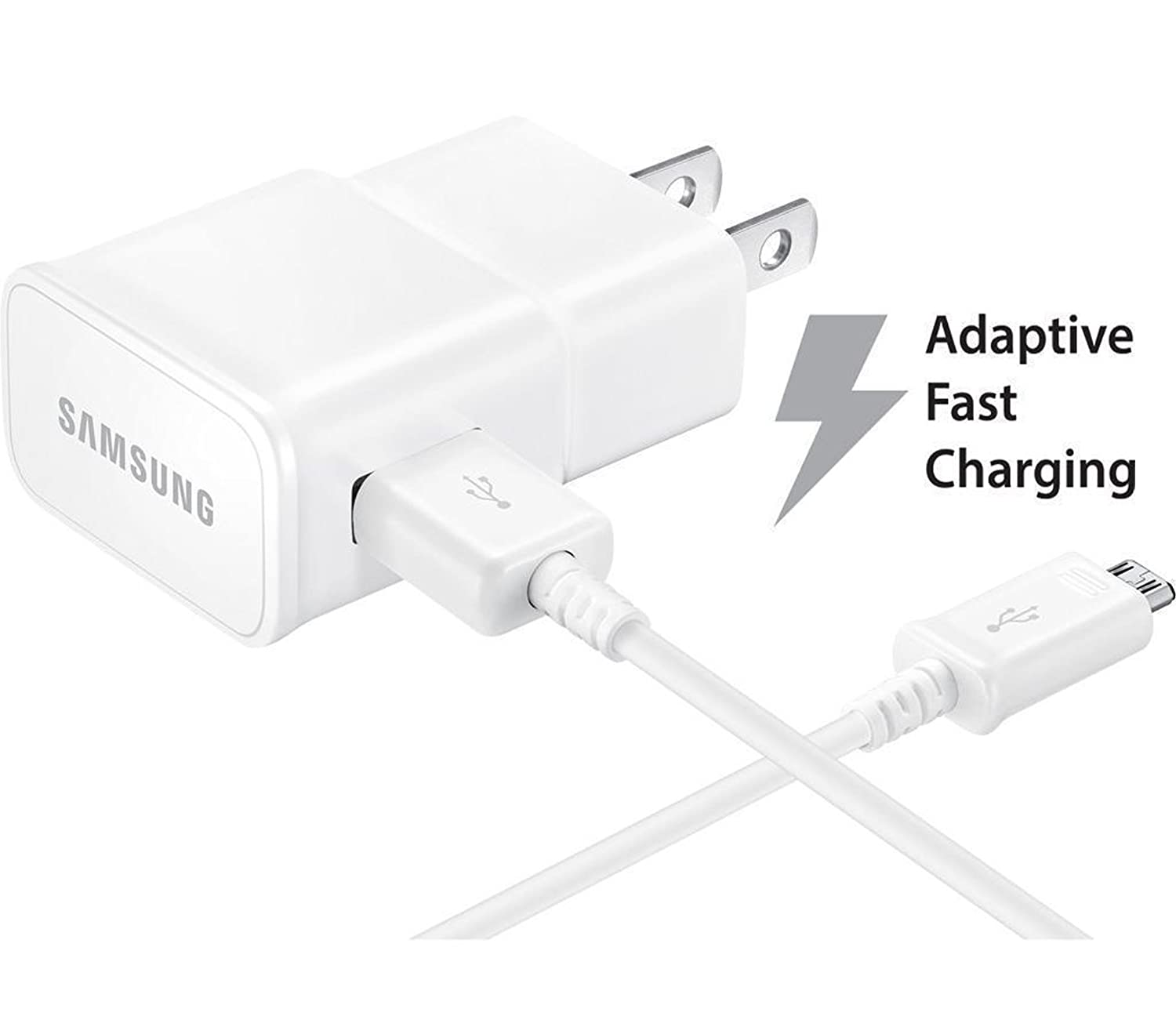 Samsung Galaxy Tab E 9.6 Adaptive Fast Charger Micro USB 2.0 Cable Kit! [1 Wall Charger + 5 FT Micro USB Cable] Adaptive Fast Charging uses Dual ...