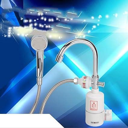Instant grifo de agua caliente, Tankless Dual Cálido y Frío eléctrico grifo cocina grifo Agua