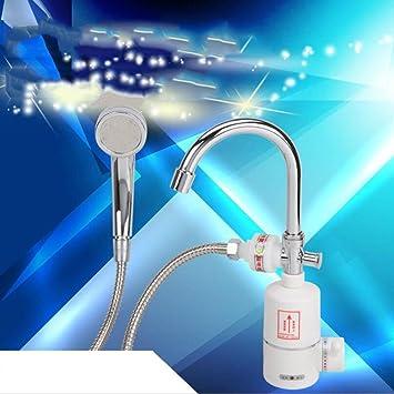 Instant grifo de agua caliente, Tankless Dual Cálido y Frío eléctrico grifo cocina grifo Agua Eléctrico Calentador de agua calefacción agua instantáneo ...