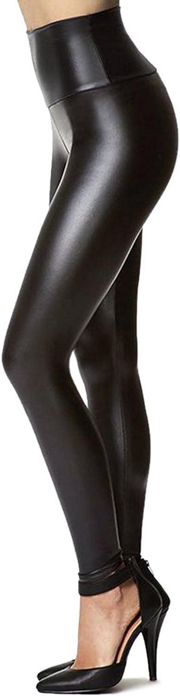 Women's Stretchy Faux Leather Leggings Pants