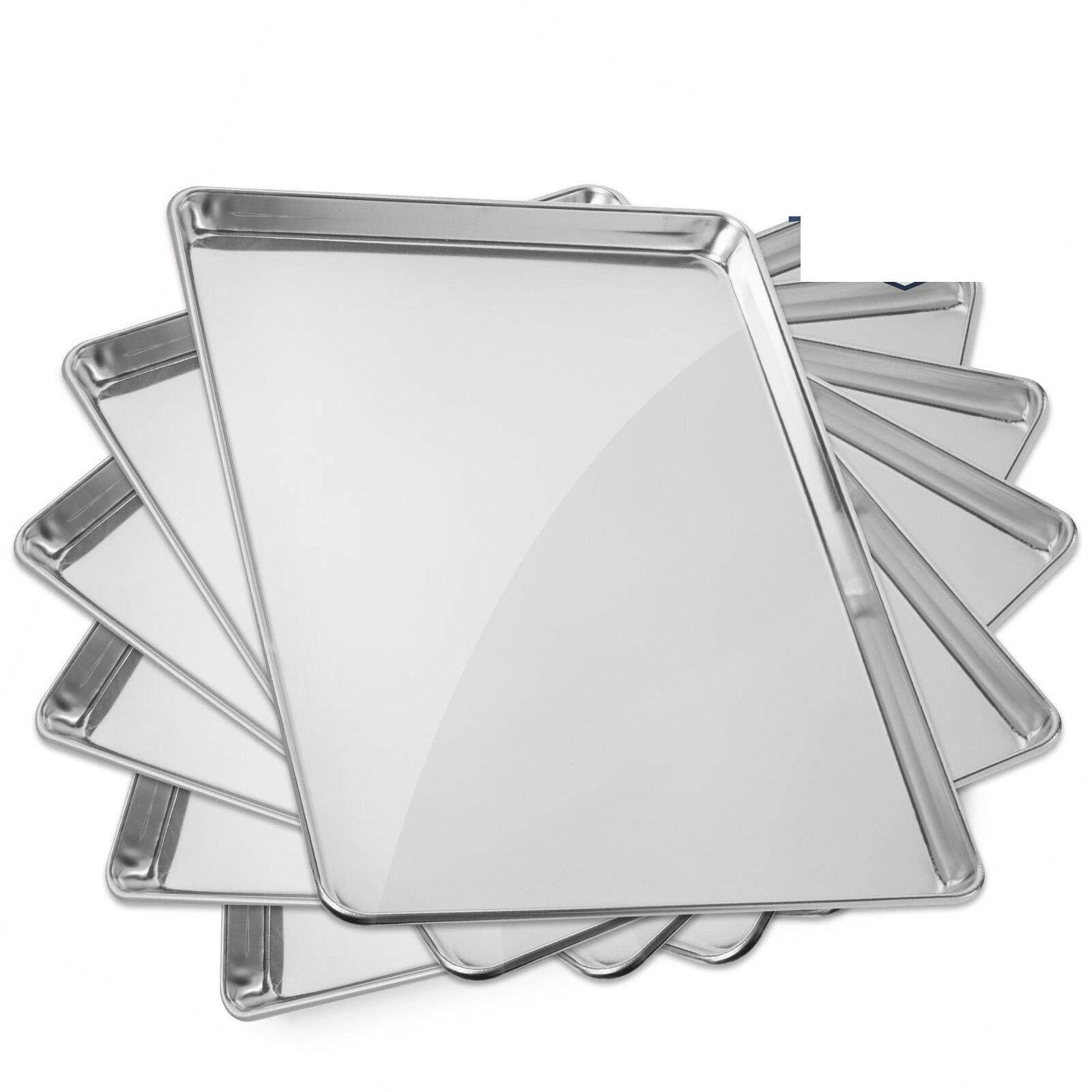 6 Pans Aluminum Baking Pans 18 x 26 Inch #MWMN