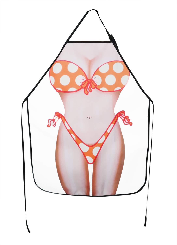 Bellady おもしろエプロン レディース ビキニショーツ 防水 キッチンエプロン 面白い クリエイティブ クッキングエプロン ピンク  SexyBikini B07PBFH27B