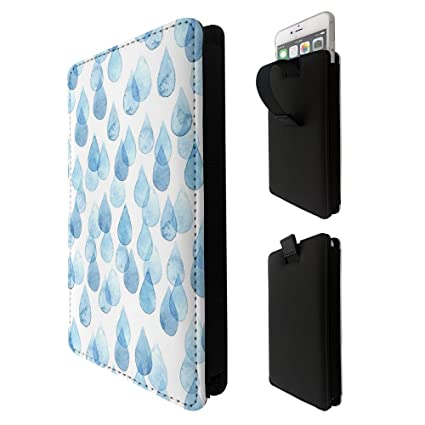 002744 - Blue Rain Drops LG k3 k4 k8 k19,Q6 G6 V20 V30,