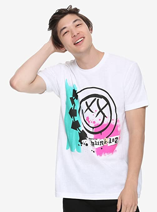 7364597706b Amazon.com  Hot Topic Blink-182 Self-Titled T-Shirt White  Clothing