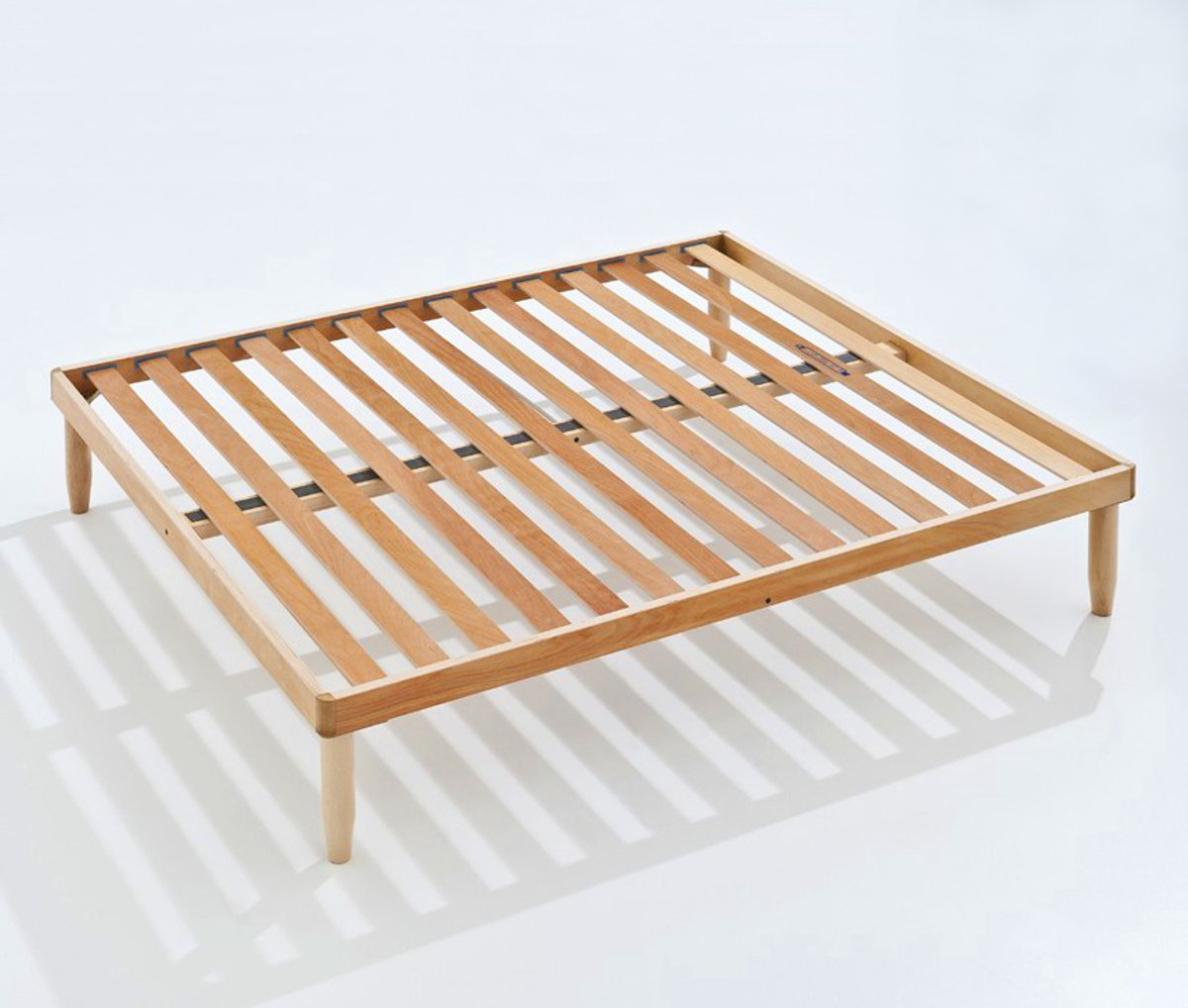 Baldiflex Double Orthopaedic Bed Frame in Beech Wood 160 x 200 cm Model Apollo