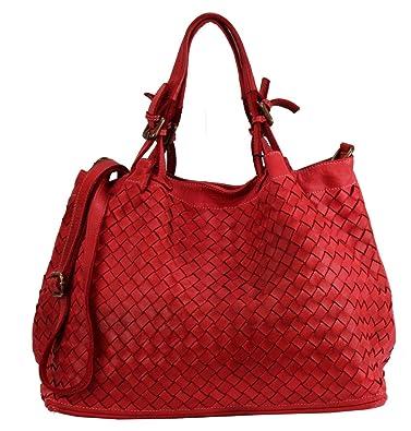 BZNA Rene Bag rosso Rot red Italy Designer Damen Handtasche