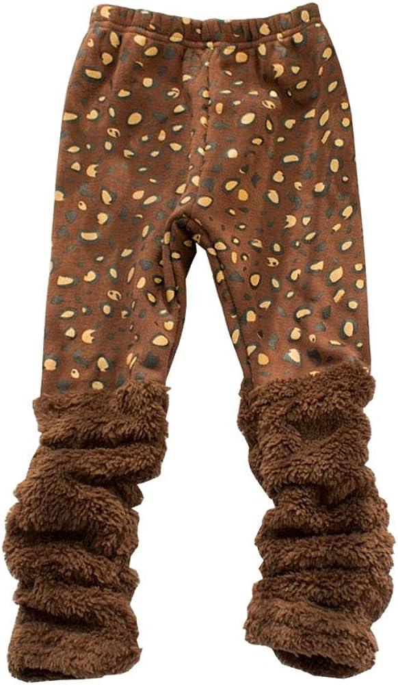 YFPICO Fille Legging Long Chaud Hiver Pantalon Thermique Motif en Coton pour Enfants Collant Jambi/ères Epais Doublure Polaire