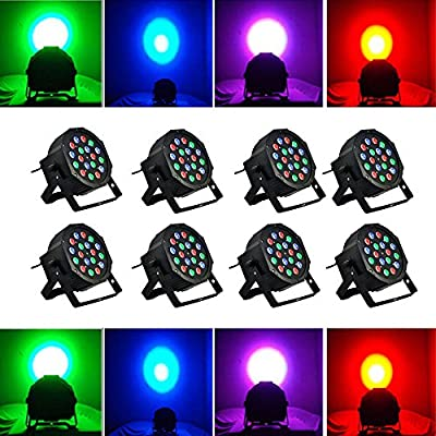 Lot8 18LEDs RGB Stage Lighting LED DMX-512 Xmas Party DJ Laser Projector Light