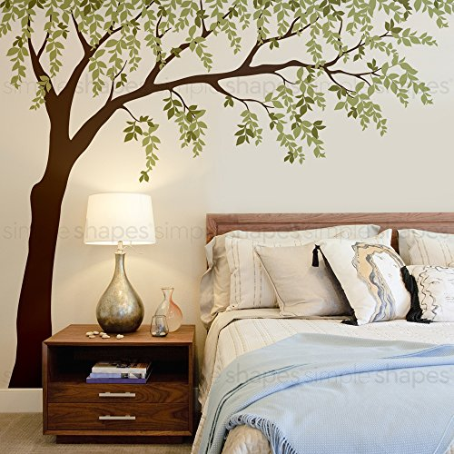 Weeping Willow Tree Decal with Leaves - by Simple Shapes (scheme A) by Simple Shapes