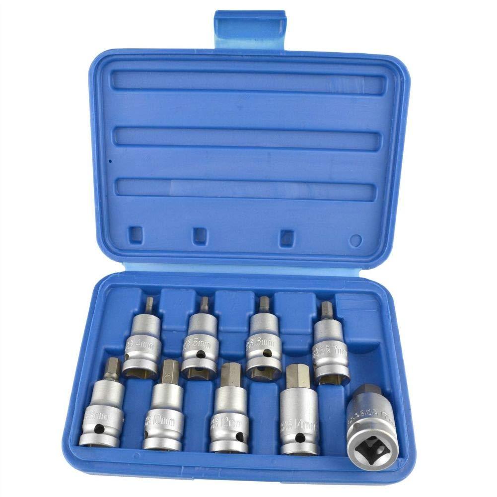 Capricornleo TE739 - Juego de Llaves hexagonales para Llaves de carraca (4 mm, 17 mm, 9 Unidades)