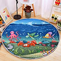 Round Kids Baby Play Mat Foldable Toy Storage Bag...