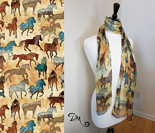 Running Horses Art Scarf by Dan Morris