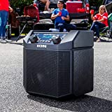 ION Audio Tailgater Plus | Wireless Rechargeable 50-Watt Portable Speaker System With Easy-Pair, 50 Hour Battery Life, Microphone & Cable, AM/FM Radio and USB Charging For Smartphones & Tablets
