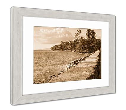 Amazon Ashley Framed Prints Usa Hawaii Maui Lahaina Wall Art