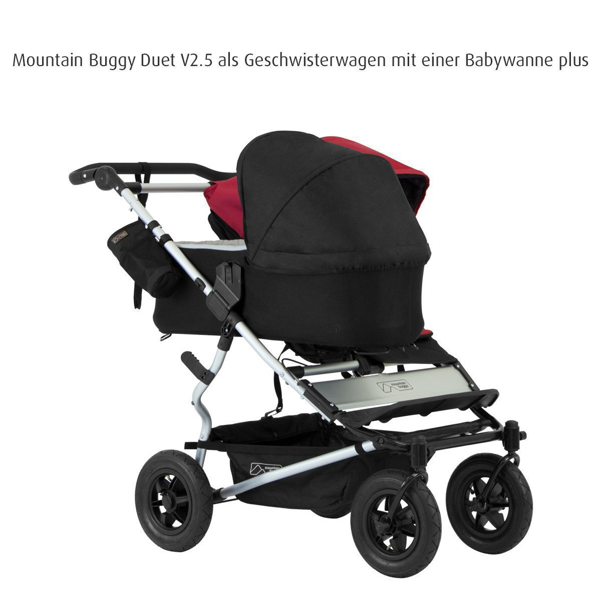 Mountain Buggy Carrycot Plus for Duet Double Stroller with Sunhood, Flint by Mountain Buggy (Image #2)