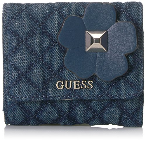 GUESS Women's Stassie Card Coin Purse, Denim, One Size