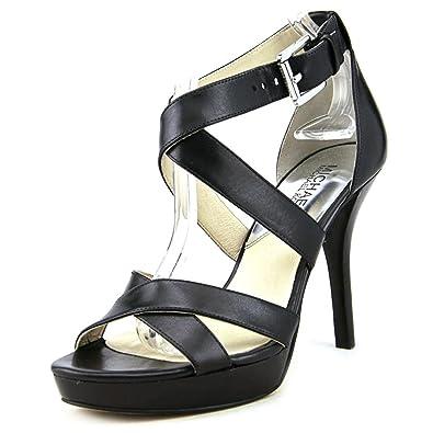 5c924e6eebd6 Michael Michael Kors Evie Platform Sandals (6.5) Black
