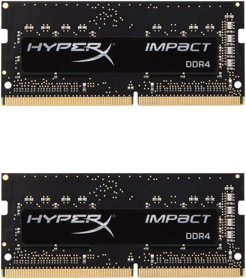 HyperX Kingston Technology Impact 8GB Kit (2 x 4GB) 2400MHz DDR4 CL14 SODIMM Laptop Memory HX424S14IBK2/8