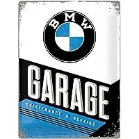 Nostalgic-Art Retro Tin Sign – BMW – Garage – Gift idea for car accessoires fans, Metal Plaque, 30 x 40 cm