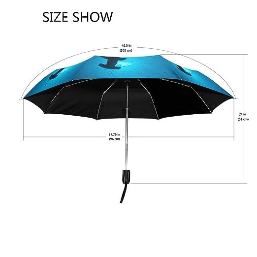 Amazon.com : YZGO Outer Black Umbrella Painting Artwork Van Goghs Starry Night UV Anti Lightweight Parasol Elegant Reverse 3 Folding Drop Sturdy Umbrella ...