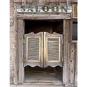 5x7ft Silk Backdrop Background Barn Door Photography Background Western Saloon  Doors Backdrop Z 34