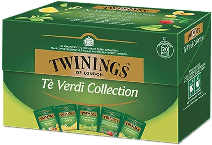 Twinings Té Verde Colección - Selección de Té Verde Ligero y Refrescante Adornado con Delicados Aromas de Frutas y Hierbas (25 Bolsas): Amazon.es: Alimentación y bebidas