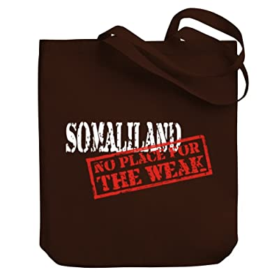 Teeburon Somaliland NO PLACE FOR THE WEAK Canvas Tote Bag