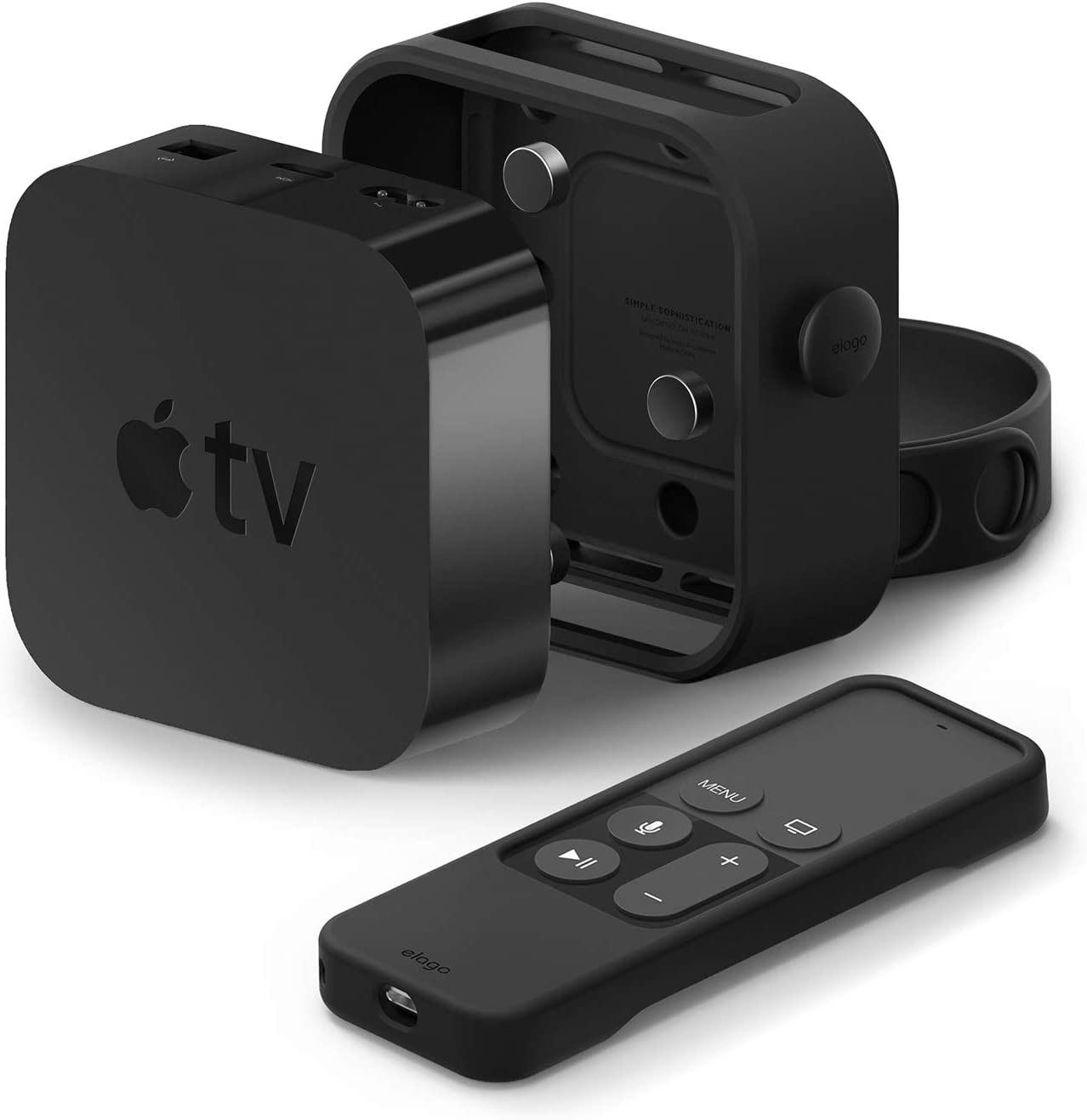 elago Apple TV Multi Mount Bundle with R1 Apple Siri Remote Case - Protection Package, Compatible with All Apple TVs Including Apple TV 4K