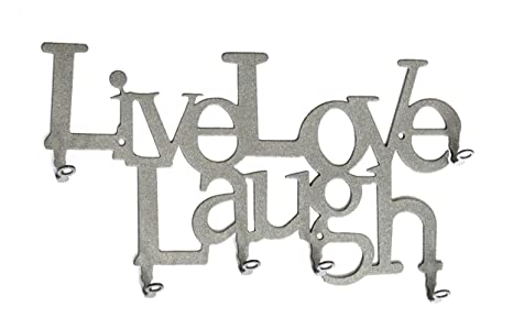 Amazon.com: Live Love Laugh – Llavero Gancho para llaves ...