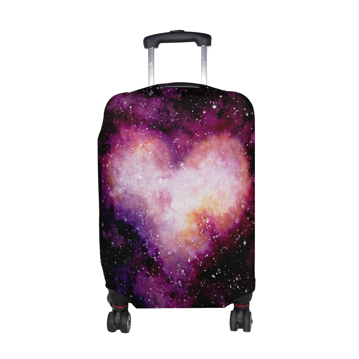 U LIFE Love Heart Galaxy Stars Luggage Suitcase Cover Protector for Travel