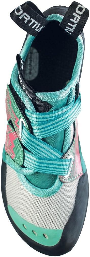 LA SPORTIVA Womens OXYGYM Climbing Shoe 40 Mint//Coral