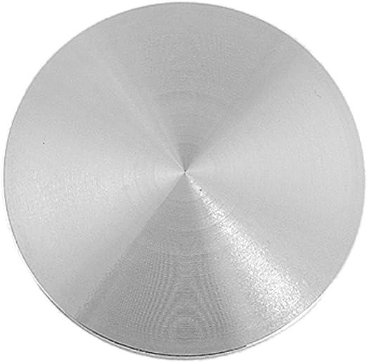 sourcing map 0,85 cm Diámetro de la Cuerda Redondo Aluminio Disco ...