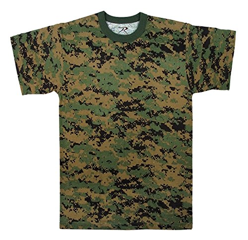 T-shirt Army Camo Woodland Cotton (Rothco T-Shirt, Woodland Digital Camo, 3X)