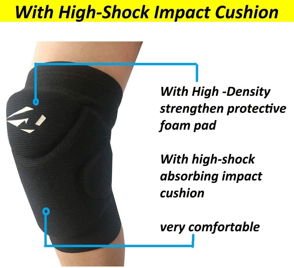 Rawxy Volleyball Knee Pads with High Shock Absorbing Cushion,Adult Junior Youth Men /&Women Boy Girls Gift