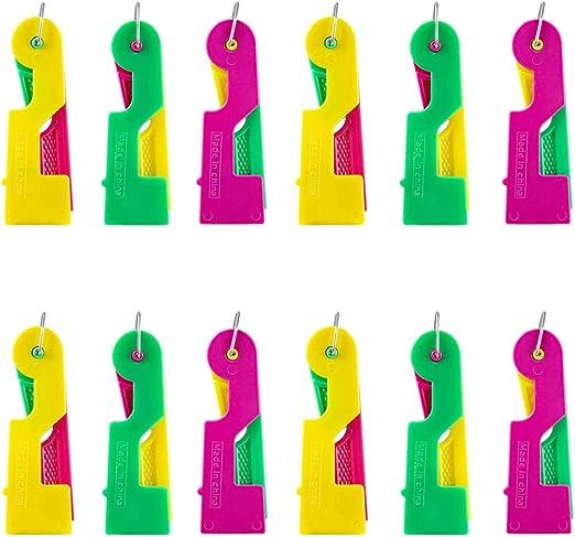 12 agujas enhebradoras, guía automática de hilo, aguja práctica ...