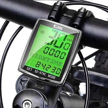 Elikliv Ordenador de Bicicleta, Interruptor de Modo Simple de Ocho Idiomas de Medidor de Bicicleta inalámbrico a Prueba de Agua con 27 Funciones: Amazon.es: Deportes y aire libre