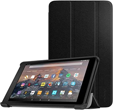 Dadanism Folio Case Fits All-New  Kindle Fire 7 Tablet Premium PU Leather Lightweight Slim Shockproof Smart Stand Cover with Auto Wake//Sleep 9th Generation, 2019 Release Only Black