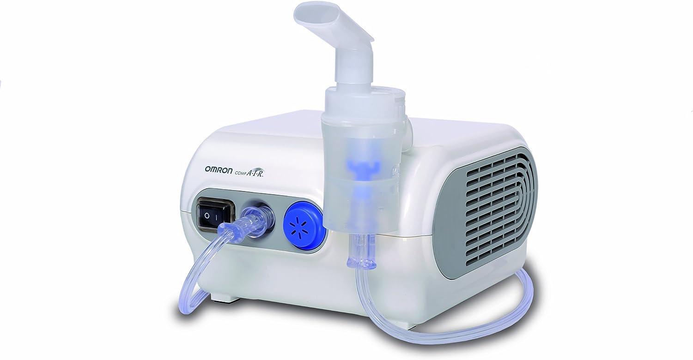 OMRON CompAir C28P - Inhalador Eléctrico, Blanco, Tasa Alta del Nebulizador,Tamaño de las Partículas [Importado de Alemania]