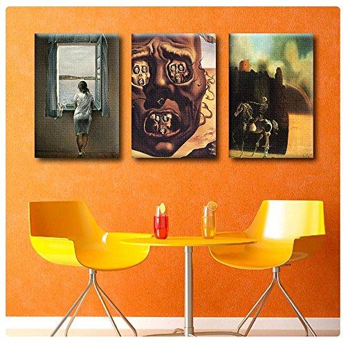 Alonline Art - Woman Window Face War Horseman Salvador Dali