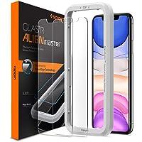 """Spigen, 2 Pezzi, Vetro Temperato iPhone 11 / XR (6.1""""), Align Master, Installazione Semplice con Cornice di Allineamento, Durezza 9H, Pellicola iPhone 11 / XR (AGL00101)"""