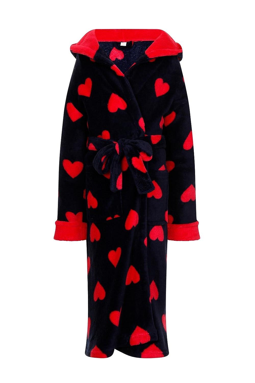 Lora Dora Girls Novelty Hooded Fleece Dressing Gown Shoe Directory