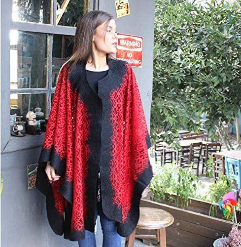 Spring Poncho Women poncho Handmade Felted poncho wool shawl felt poncho silk poncho boho style pocho fashion poncho women coat
