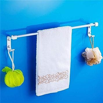 Baño sin Perforaciones Espacio Aluminio Barra Individual Toalla Bar Toalla Barra para Colgar Baño Colgar Toallero Accesorios de baño Largos (Size : 300mm): ...
