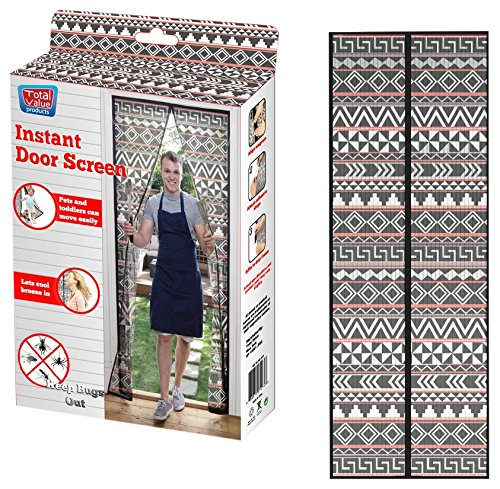 Pattern Door - GRAND INNOVATION HGI-0107_MULTI Instant Door Screen, Tribal Pattern
