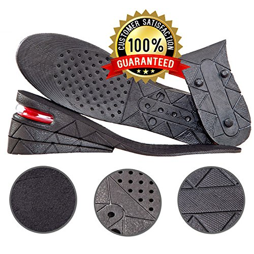 Height Increase Insoles 3 Layers 1.2 to 2.75 inch Air Cushion Heels Taller Shoes Pad Lift Kit for men and women by Rise Insoles (Pad Riser Kit)
