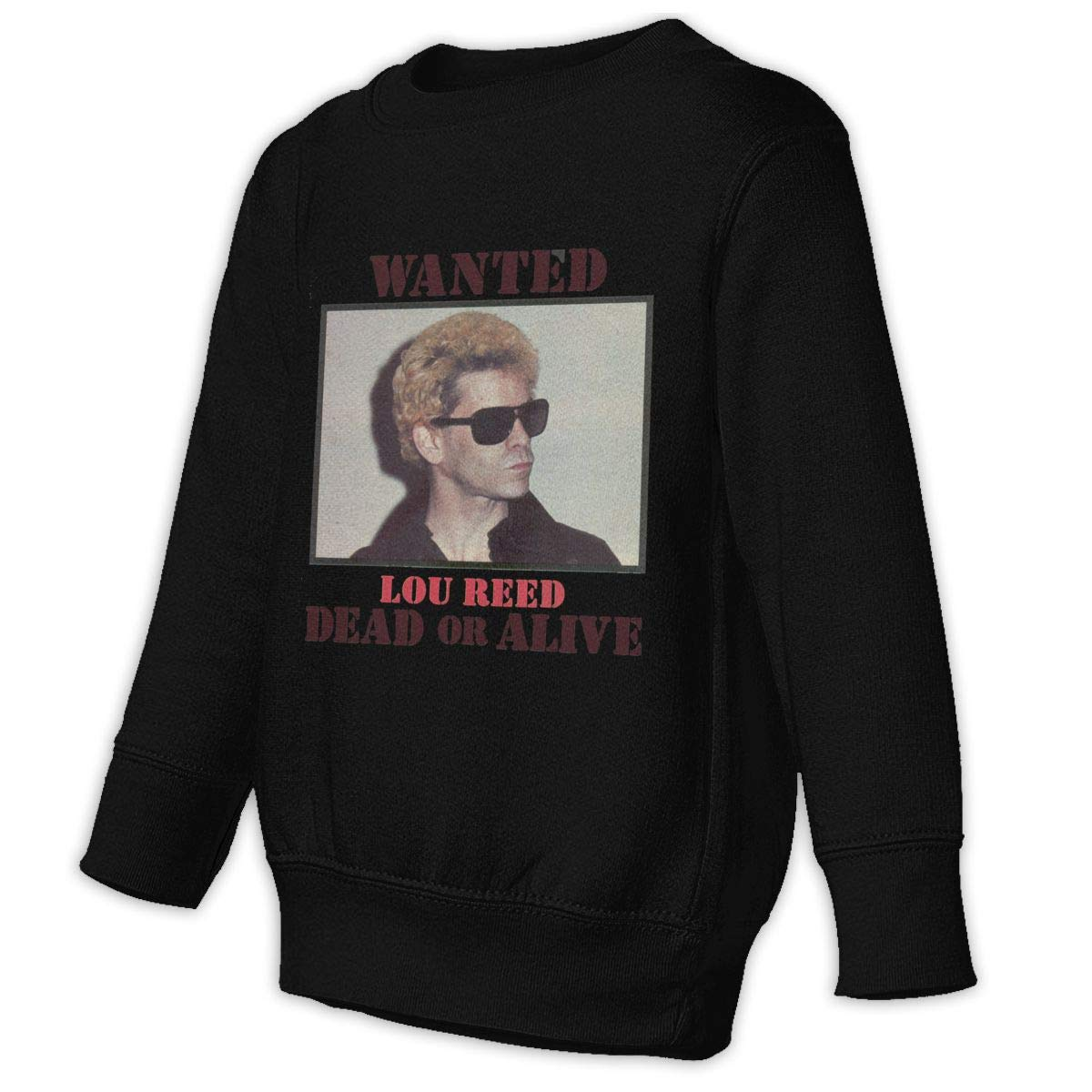 Lou Reed Boys Unisex Sweatshirt Cool Long Sleeve Graphics Printing Shirts Black