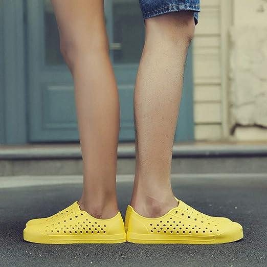 308831fb1deb YEZIJIN Hot Sale! Women's Mens Fashion Couples Solid Unisex Hollow Out  Sandals Beach Outdoor Shoes Slipper Heels Platform Flats Shoes for Women  Ladies ...