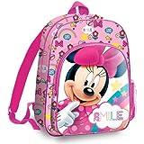Minnie Mouse 36cm Mochila Tiempo Libre y Sportwear Infantil, Juventud Unisex, Multicolor (Multicolor), 36 cm