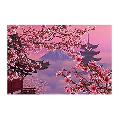 Japan Sakura Mount Fuji 1000 Pieces Wooden Jigsaw Puzzles Adults Decompression Toys Learning Educational Game for Kids: Toys & Games